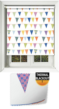 Garden Party Multi Motorised Roller Blind