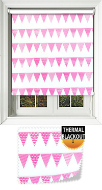 Garden Party Pink Cordless Roller Blind