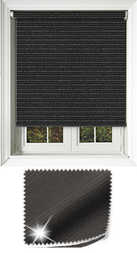 Glitter Stripe Black Roller Blind