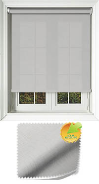 Husk Solar White Oak Roller Blind