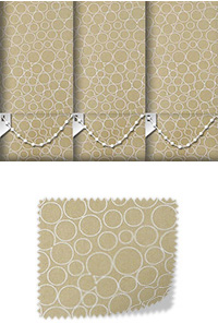 Illusion Praline Roller Blind