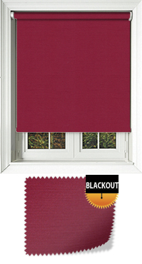Jordan Raspberry Motorised Roller Blind