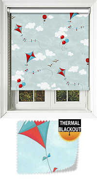 Kites Blues & Red Replacement Vertical Blind Slat