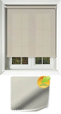 Lattice Solar Cream Motorised Roller Blind