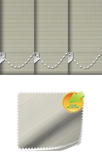 Lattice Solar Cream Vertical Blind