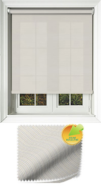 Lattice Solar Ivory Cordless Roller Blind
