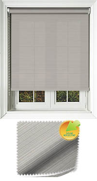 Lattice Solar Taupe Wooden Blind