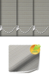 Lattice Solar Taupe Vertical Blind