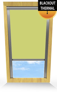 Light Green Bifold Doors Blind