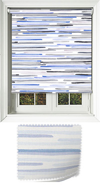 Linear Blue Roller Blind