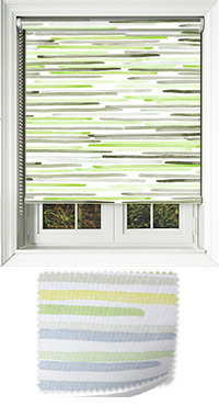 Linear Lime Bifold Doors Blind