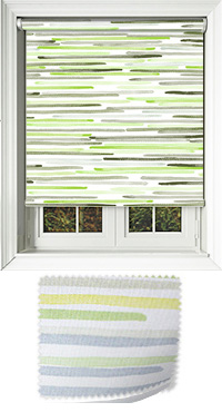 Linear Lime Wooden Blind