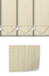 Linen Cream Replacement Vertical Blind Slats Swatch