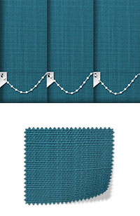 Linen Teal Vertical Blinds Fabric Swatch