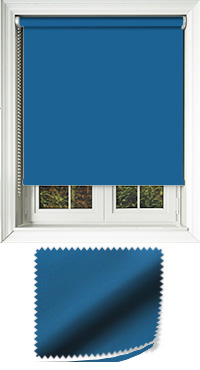 Luxe Atlantic Blue Cordless Roller Blind