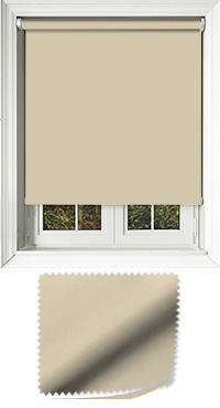 Luxe Biscotti Cordless Roller Blind