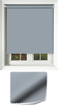 Luxe Blue Haze Motorised Roller Blind