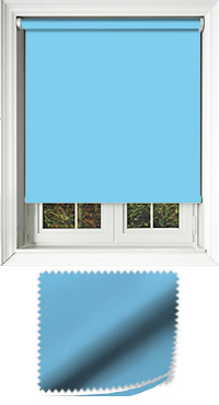 Luxe Blue Haze Wooden Blind