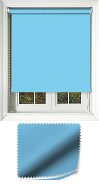Luxe Blue Roller Blind