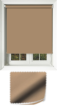 Luxe Brown Sugar Cordless Roller Blind