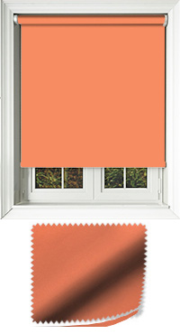 Luxe Burnt Orange Cordless Roller Blind