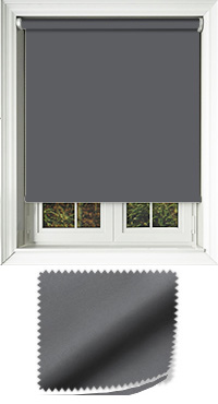 Luxe Charcoal Roller Blind