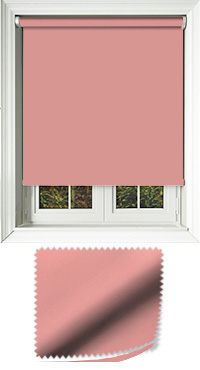 Luxe Coral Motorised Roller Blind