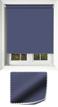 Luxe Dark Blue Cordless Roller Blind
