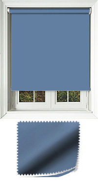 Luxe Denim Motorised Roller Blind