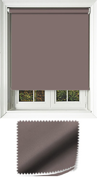 Luxe Espresso Cordless Roller Blind