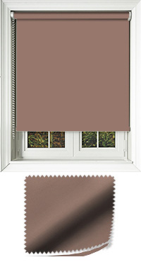 Luxe Fudge Motorised Roller Blind