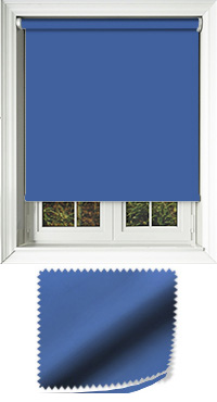 Luxe Glacier Blue Vertical Blind