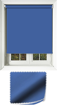 Luxe Glacier Blue Cordless Roller Blind