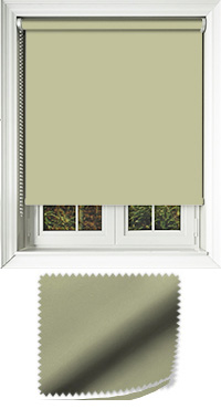 Luxe Green Motorised Roller Blind