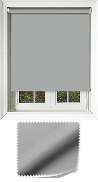 Luxe Grey Cordless Roller Blind