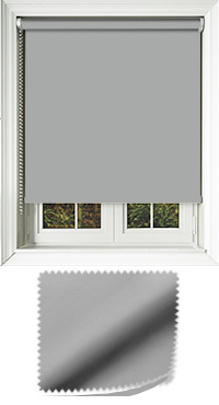 Luxe Grey Motorised Roller Blind
