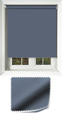 Luxe Ink Blue Cordless Roller Blind