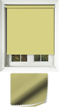 Luxe Lime Green Motorised Roller Blind