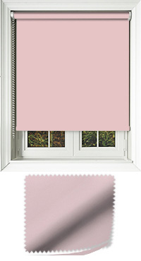 Luxe Pink Motorised Roller Blind