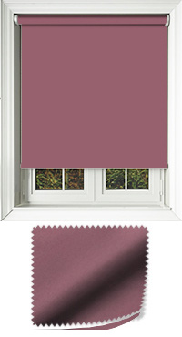 Luxe Plum Cordless Roller Blind