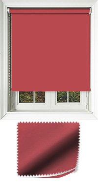Luxe Redcurrant Cordless Roller Blind