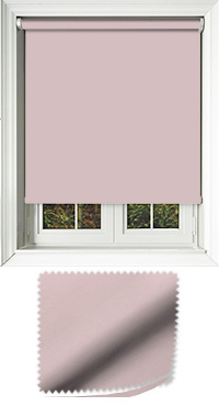 Luxe Rose Motorised Roller Blind