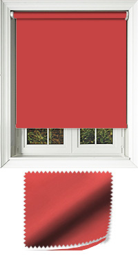 Luxe Scarlet Cordless Roller Blind