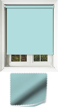Luxe Sea Blue Bifold Doors Blind