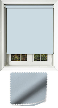 Luxe Smokey Blue Wooden Blind