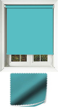 Luxe Teal Cordless Roller Blind