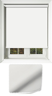 Luxe White Replacement Vertical Blind Slat
