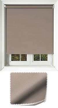 Madre Taupe Motorised Roller Blind