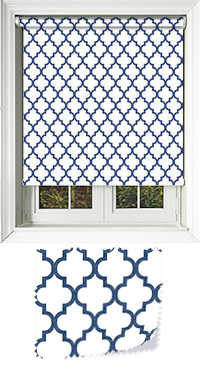 Marrakech Navy Roller Blind