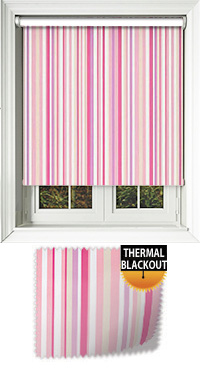 Melia Pink Motorised Roller Blind